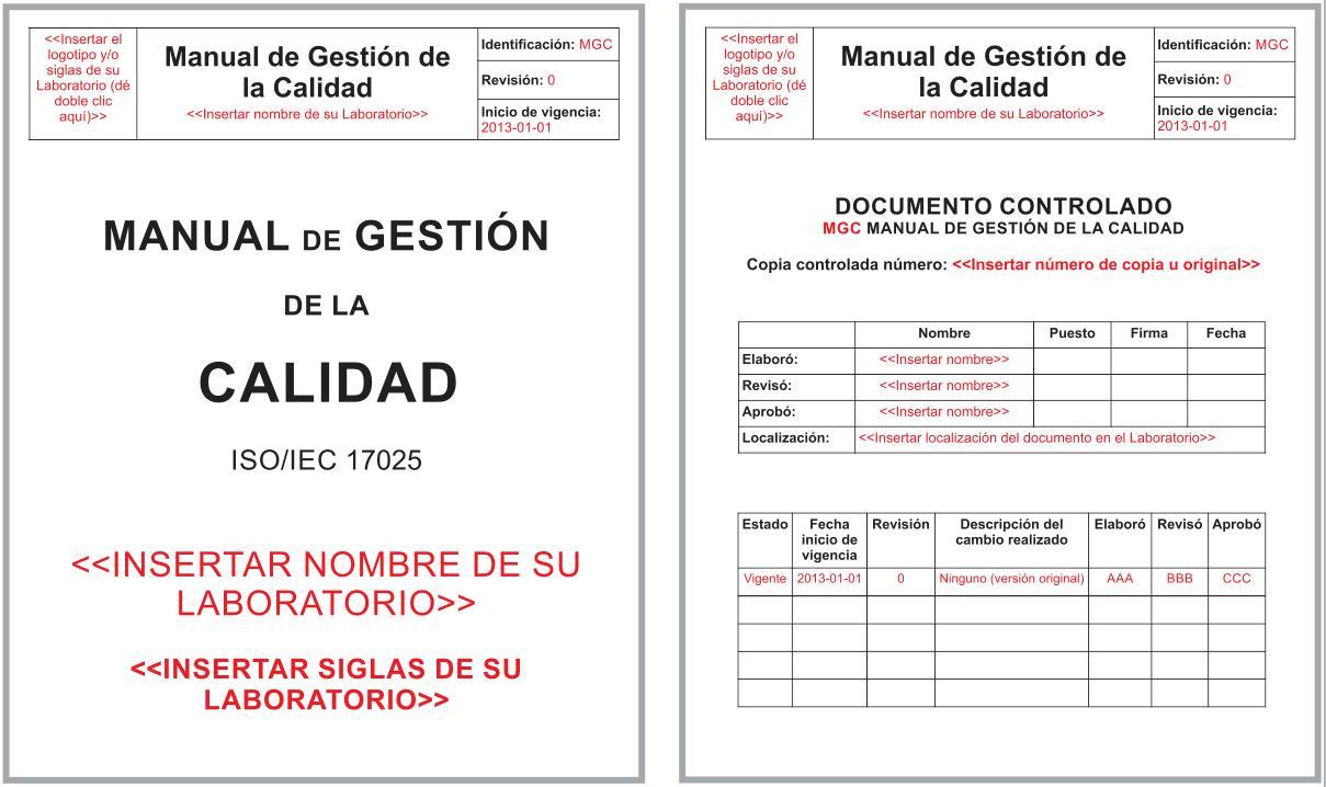 manual de calidad ISO IEC 17025 MUESTRA GRATIS